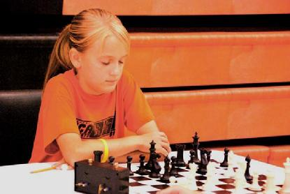 Annie Reinert at U.S. Junior Open Chess Championship