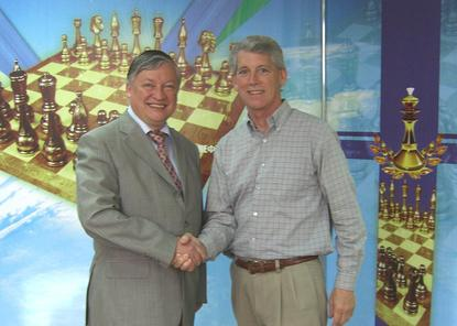 Marck R. Cobb and Anatoly Karpov